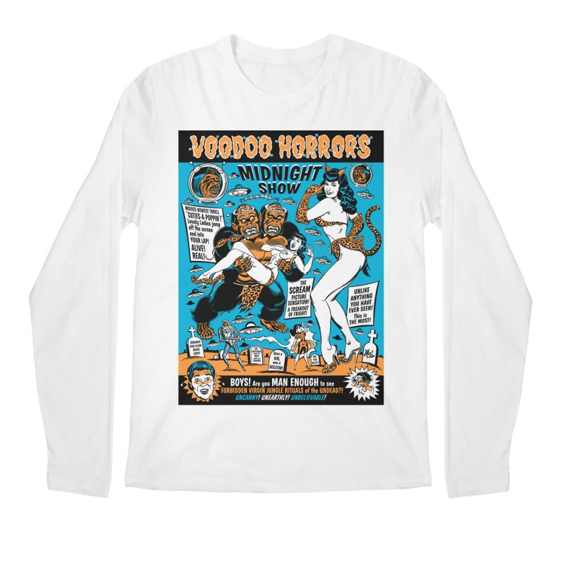 Voodoo Spookshow! Men's Longsleeve T-Shirt by Mitch O'Connell