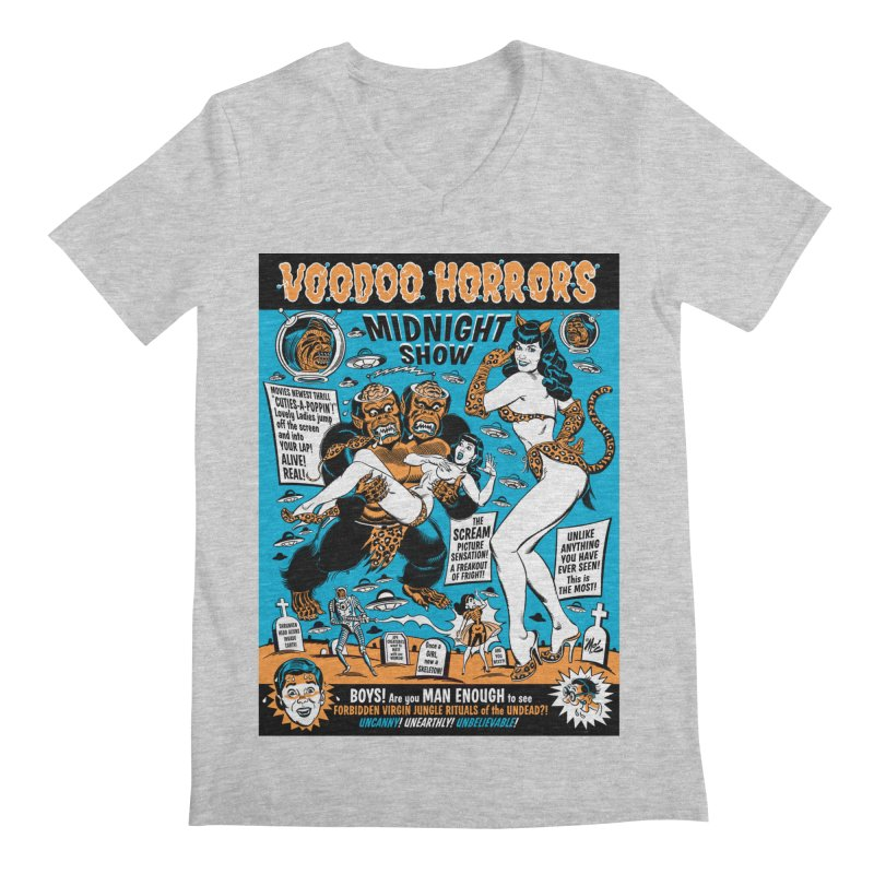 Voodoo Spookshow! Men's V-Neck by Mitch O'Connell