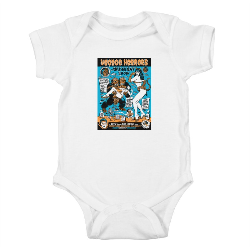 Voodoo Spookshow! Kids Baby Bodysuit by Mitch O'Connell