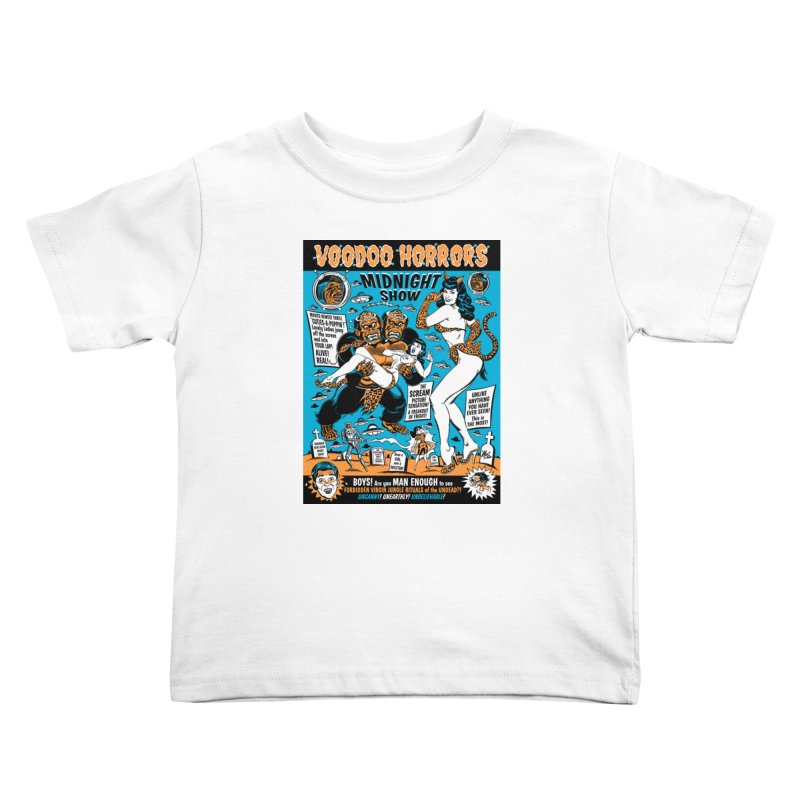 Voodoo Spookshow! Kids Toddler T-Shirt by Mitch O'Connell