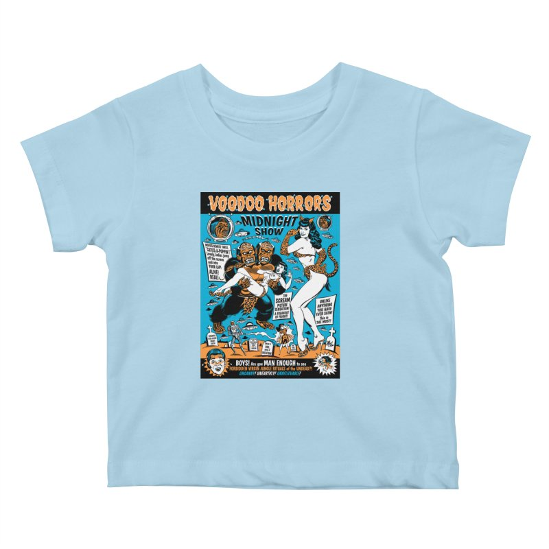 Voodoo Spookshow! Kids Baby T-Shirt by Mitch O'Connell