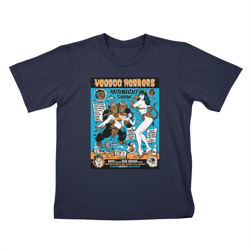 Voodoo Spookshow! Kids T-Shirt by Mitch O'Connell