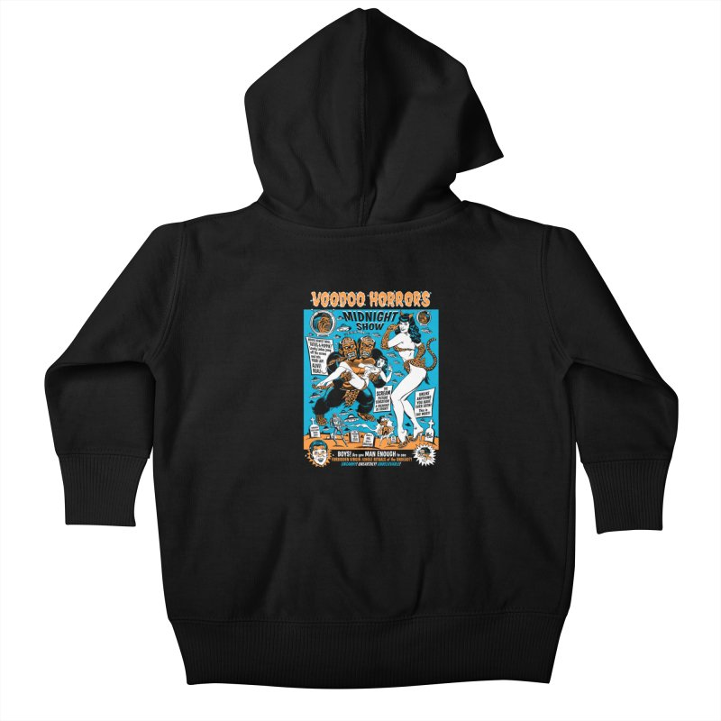 Voodoo Spookshow! Kids Baby Zip-Up Hoody by Mitch O'Connell
