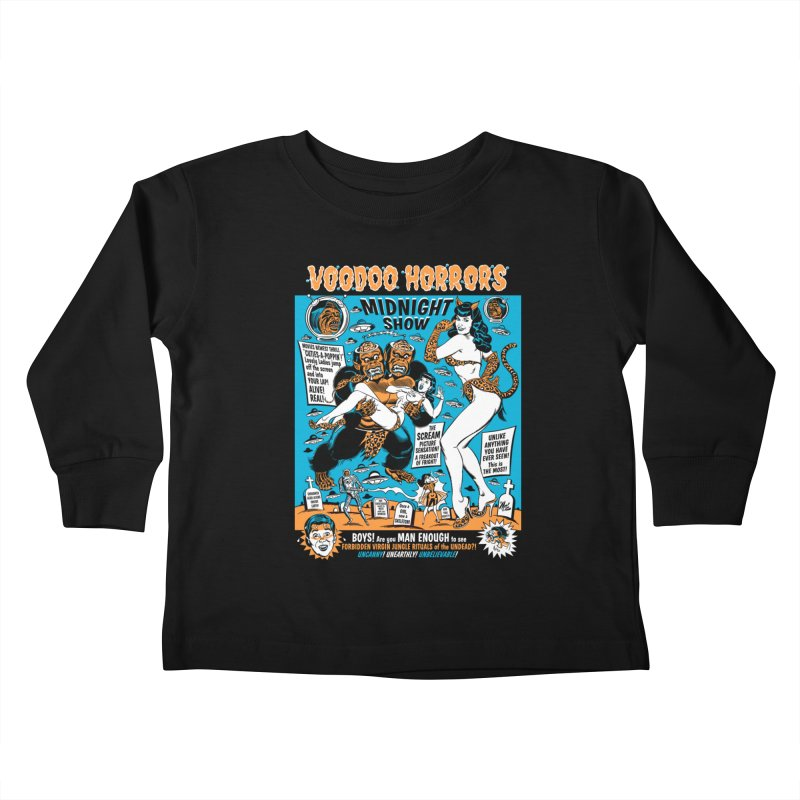 Voodoo Spookshow! Kids Toddler Longsleeve T-Shirt by Mitch O'Connell