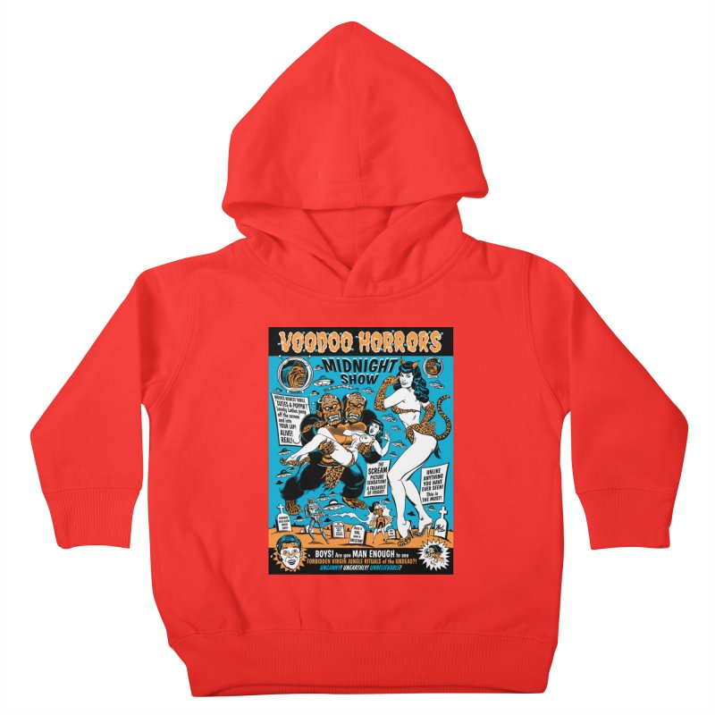 Voodoo Spookshow! Kids Toddler Pullover Hoody by Mitch O'Connell