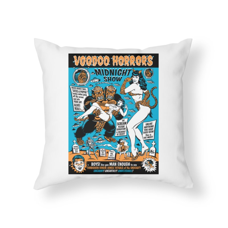 Voodoo Spookshow! Home Throw Pillow by Mitch O'Connell