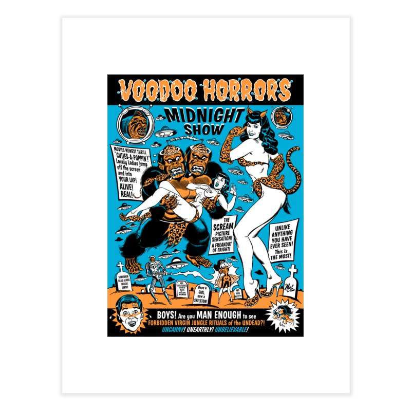 Voodoo Spookshow! Home Fine Art Print by Mitch O'Connell