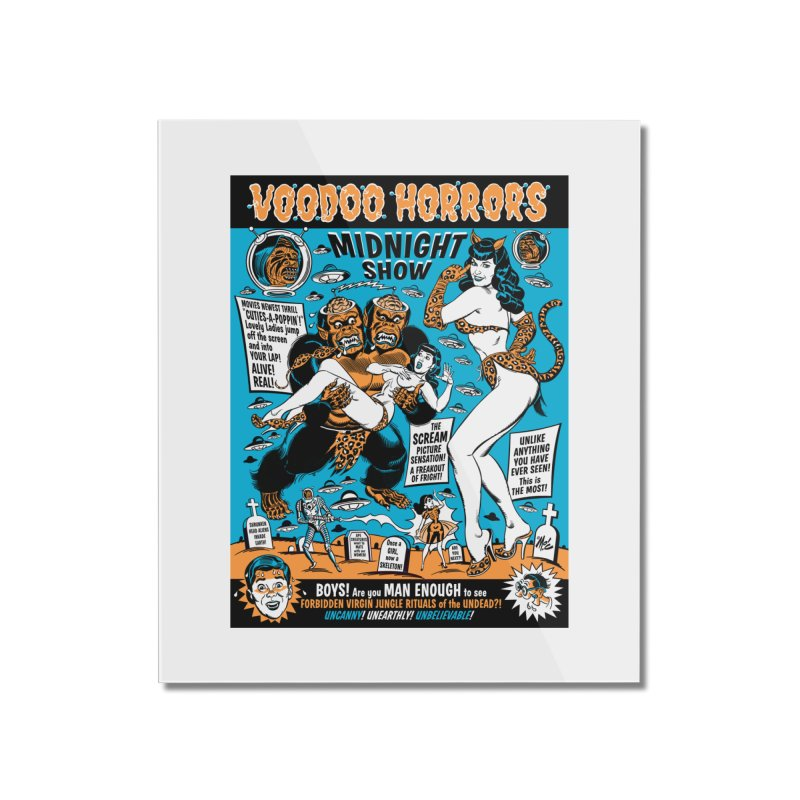 Voodoo Spookshow! Home Mounted Acrylic Print by Mitch O'Connell