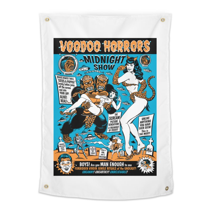 Voodoo Spookshow! Home Tapestry by Mitch O'Connell