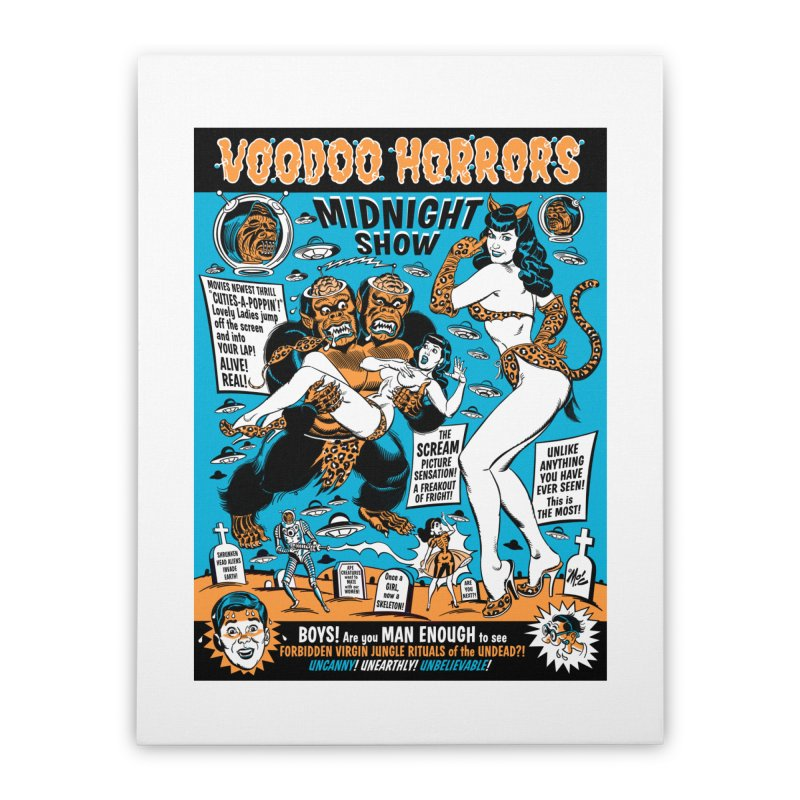 Voodoo Spookshow! Home Stretched Canvas by Mitch O'Connell