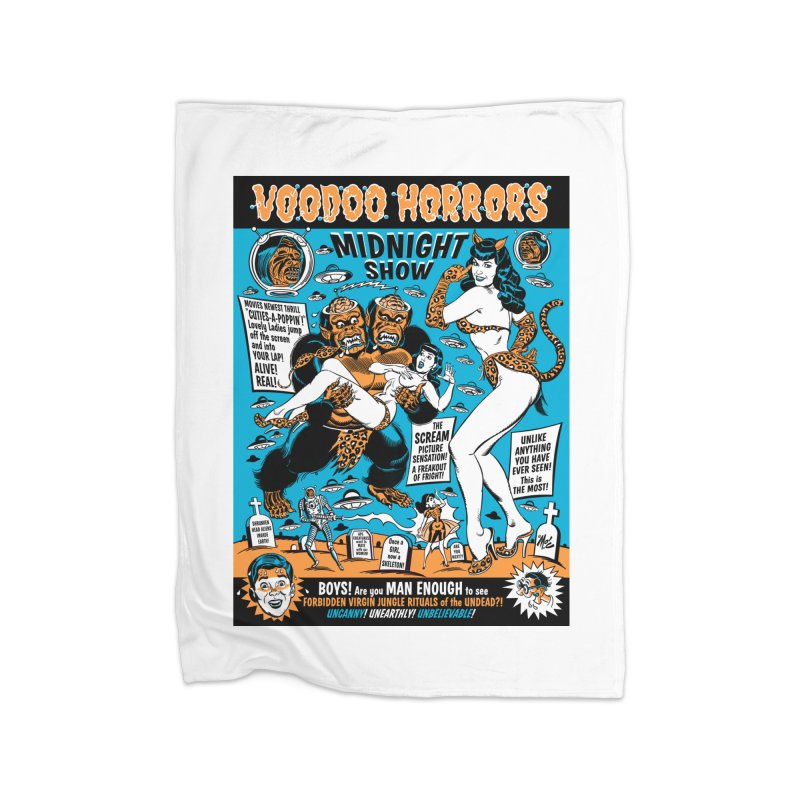 Voodoo Spookshow! Home Blanket by Mitch O'Connell