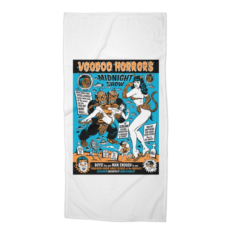 Voodoo Spookshow! Accessories Beach Towel by Mitch O'Connell