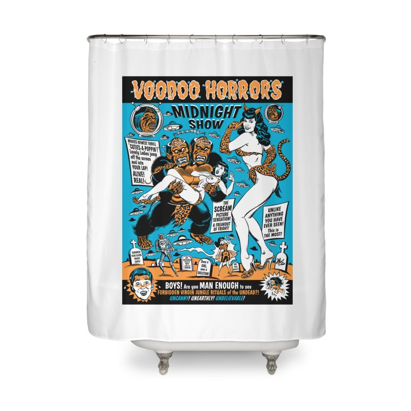 Voodoo Spookshow! Home Shower Curtain by Mitch O'Connell
