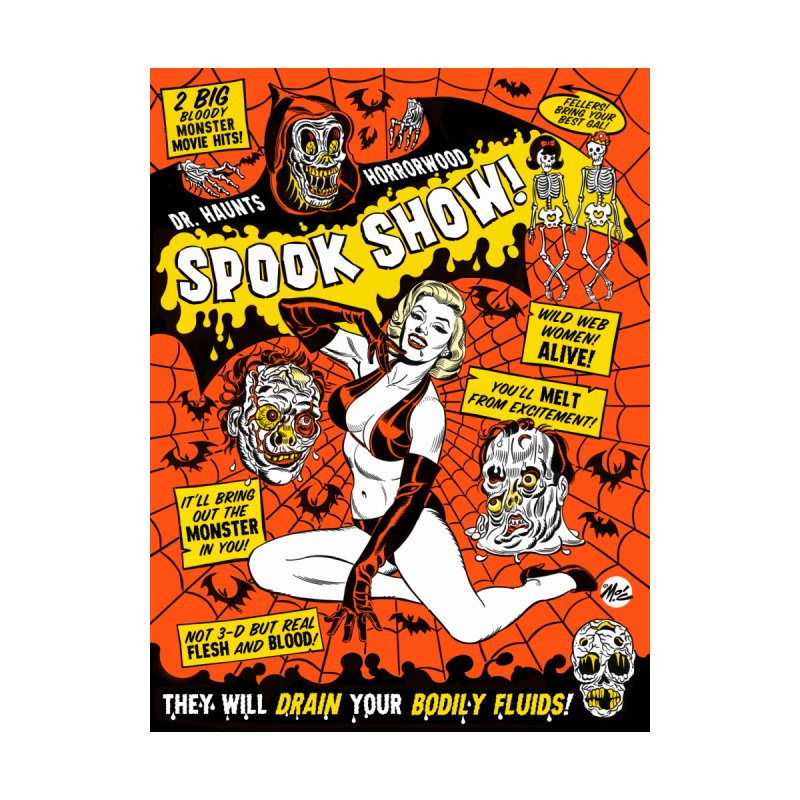 Dr. Haunt's Spookshow! Women's Scoop Neck by Mitch O'Connell