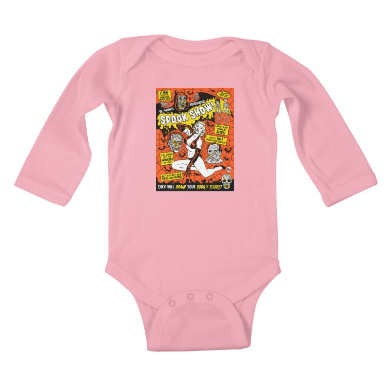 Dr. Haunt's Spookshow! Kids Baby Longsleeve Bodysuit by Mitch O'Connell