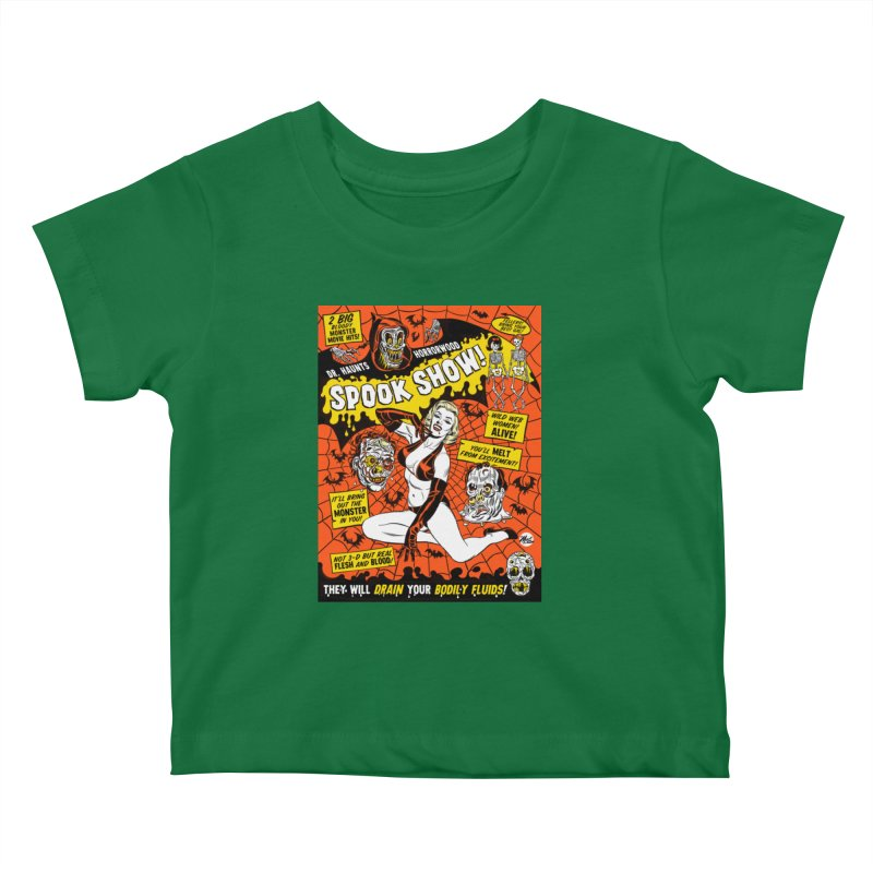 Dr. Haunt's Spookshow! Kids Baby T-Shirt by Mitch O'Connell
