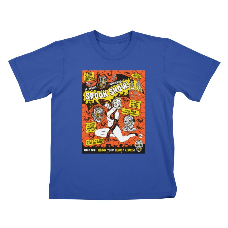 Dr. Haunt's Spookshow! Kids T-Shirt by Mitch O'Connell