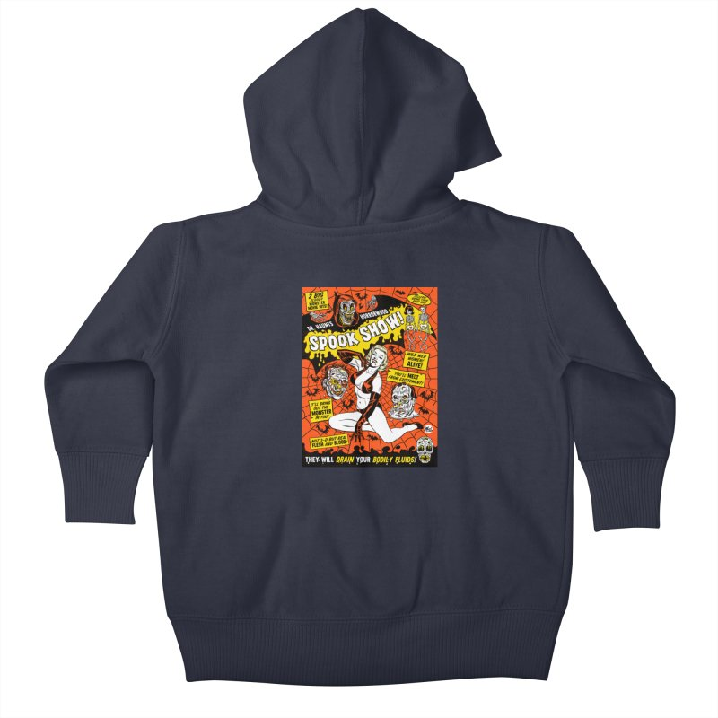 Dr. Haunt's Spookshow! Kids Baby Zip-Up Hoody by Mitch O'Connell