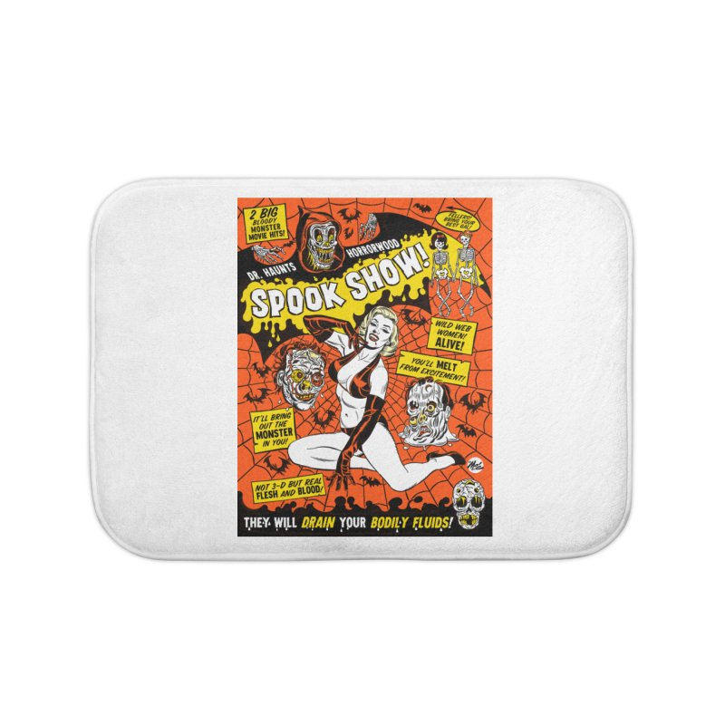Dr. Haunt's Spookshow! Home Bath Mat by Mitch O'Connell