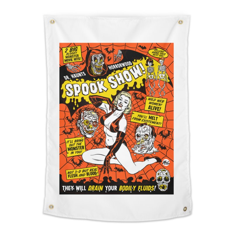 Dr. Haunt's Spookshow! Home Tapestry by Mitch O'Connell