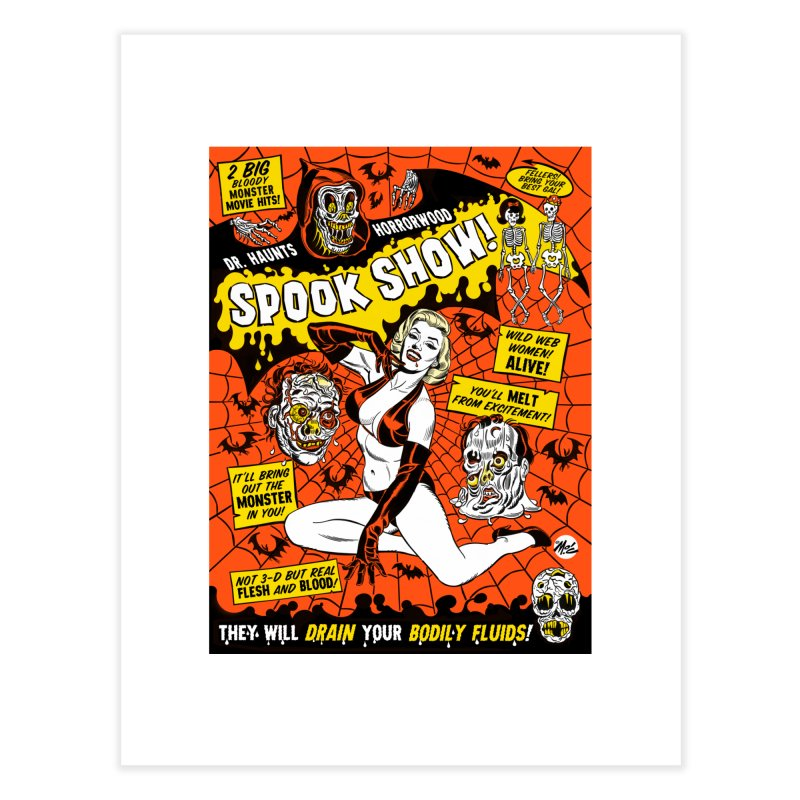 Dr. Haunt's Spookshow! Home Fine Art Print by Mitch O'Connell