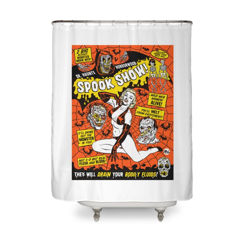 Dr. Haunt's Spookshow! Home Shower Curtain by Mitch O'Connell