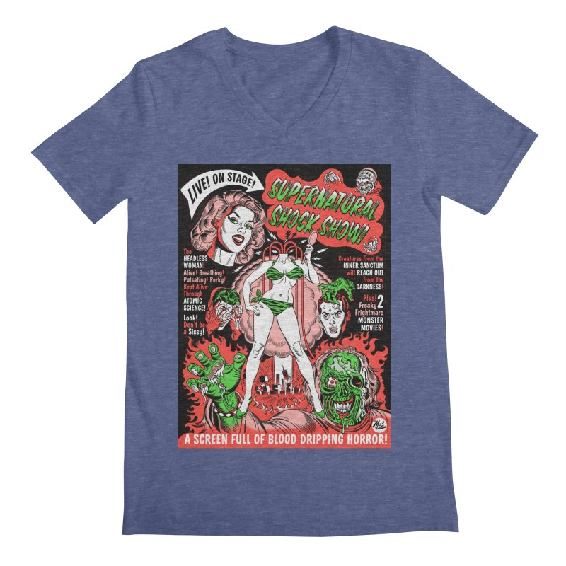 Supernatural Spookshow! Men's V-Neck by Mitch O'Connell