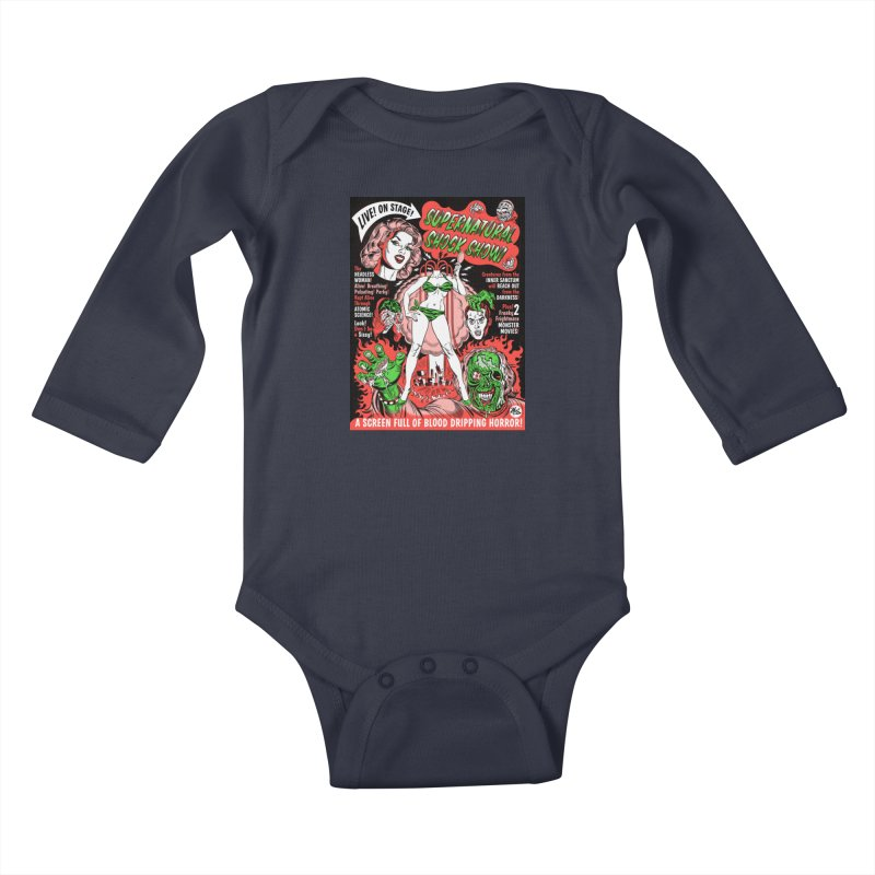 Supernatural Spookshow! Kids Baby Longsleeve Bodysuit by Mitch O'Connell
