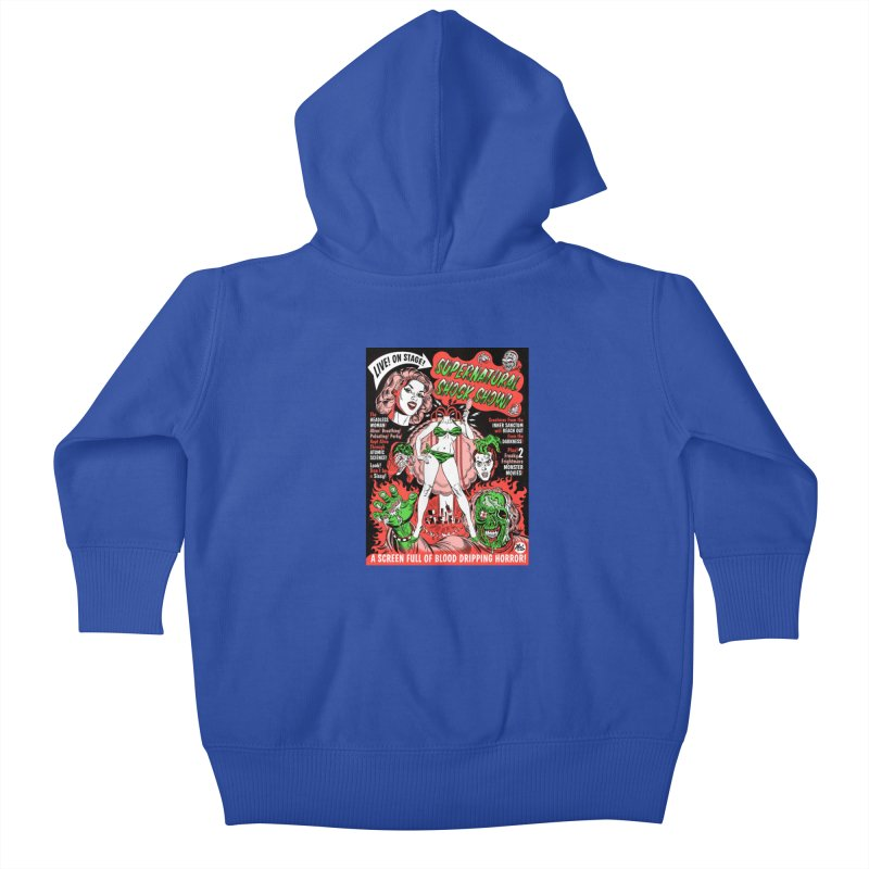 Supernatural Spookshow! Kids Baby Zip-Up Hoody by Mitch O'Connell