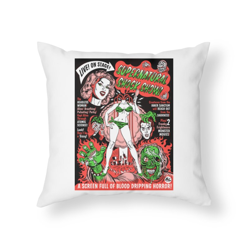 Supernatural Spookshow! Home Throw Pillow by Mitch O'Connell
