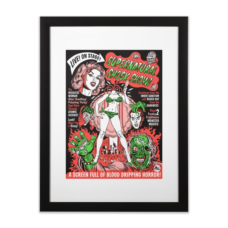 Supernatural Spookshow! Home Framed Fine Art Print by Mitch O'Connell