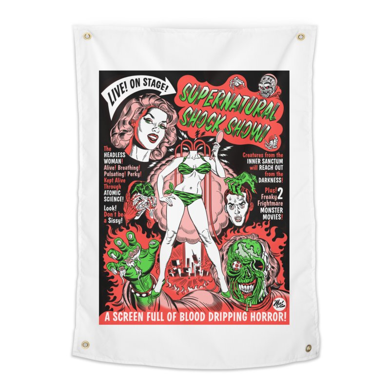 Supernatural Spookshow! Home Tapestry by Mitch O'Connell