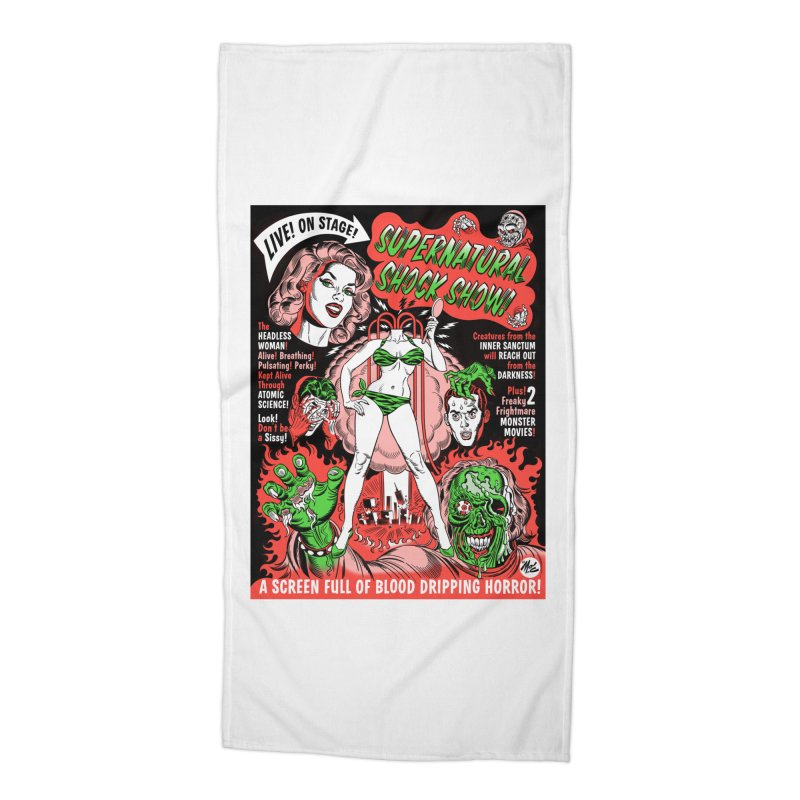 Supernatural Spookshow! Accessories Beach Towel by Mitch O'Connell