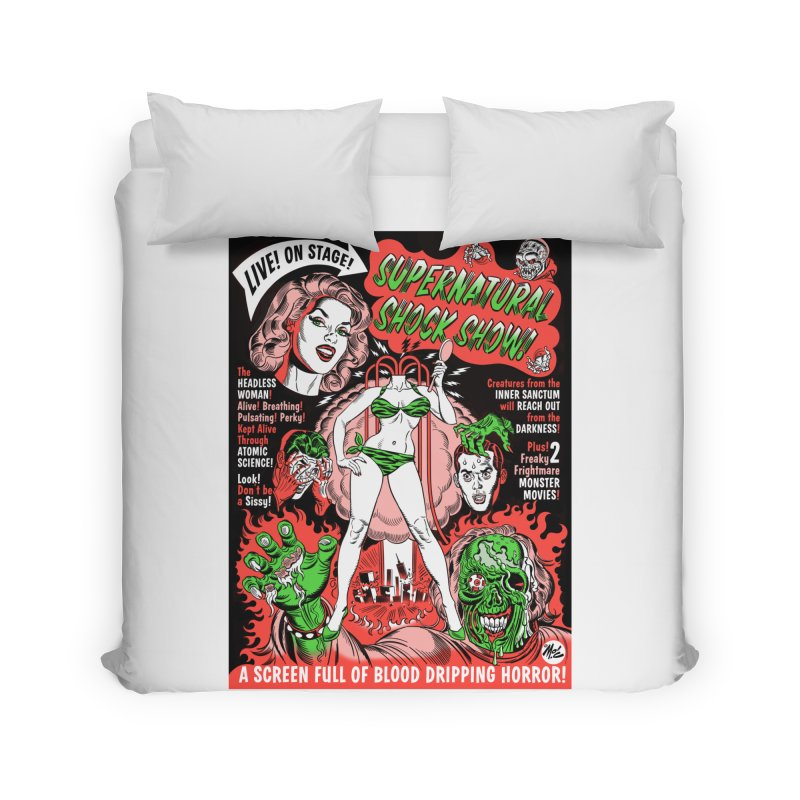 Supernatural Spookshow! Home Duvet by Mitch O'Connell