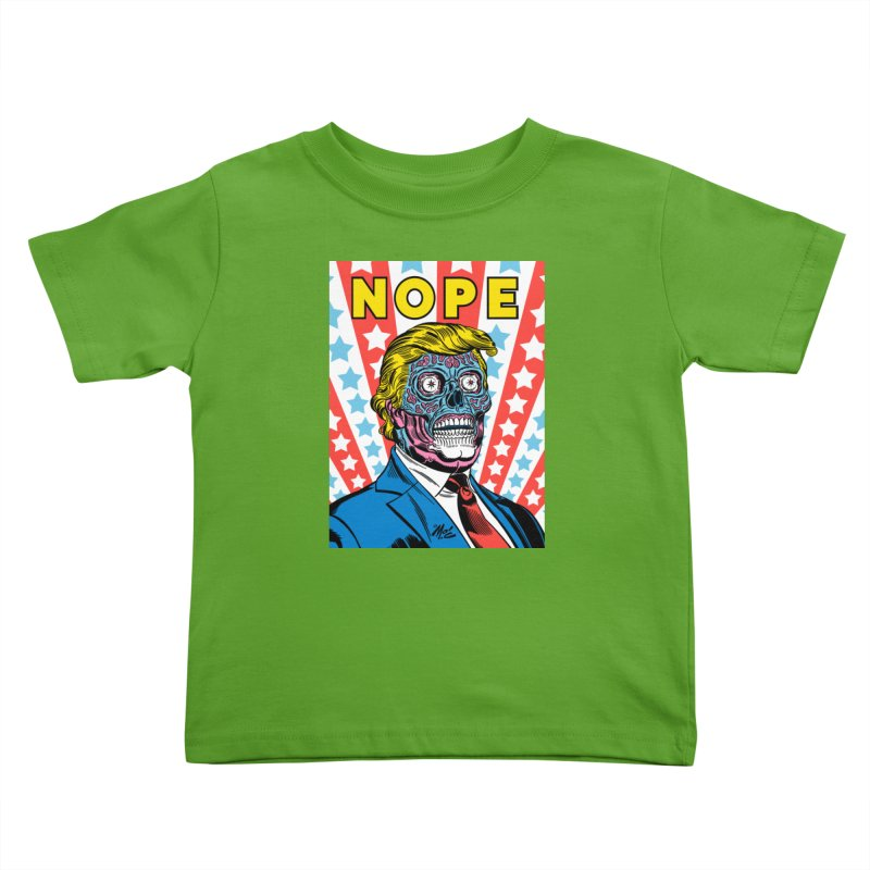 NOPE Kids Toddler T-Shirt by Mitch O'Connell