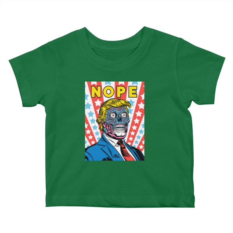 NOPE Kids Baby T-Shirt by Mitch O'Connell