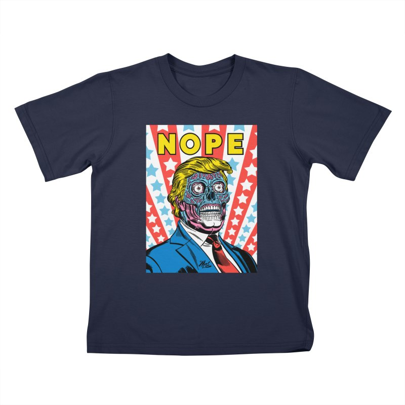 NOPE Kids T-Shirt by Mitch O'Connell