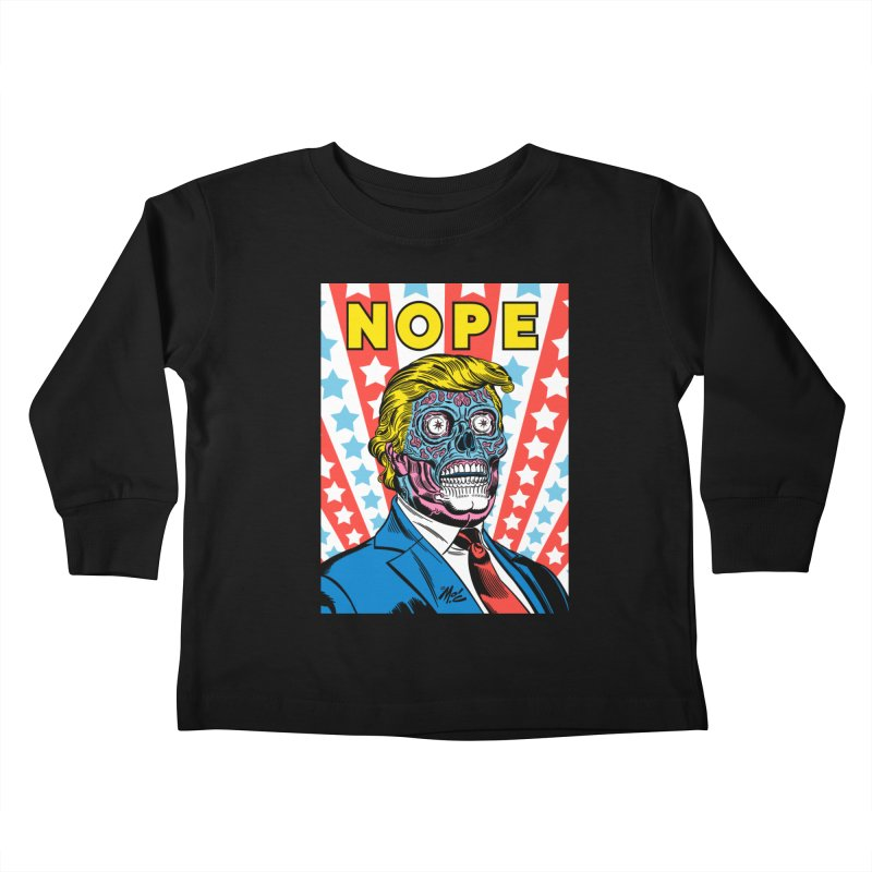 NOPE Kids Toddler Longsleeve T-Shirt by Mitch O'Connell
