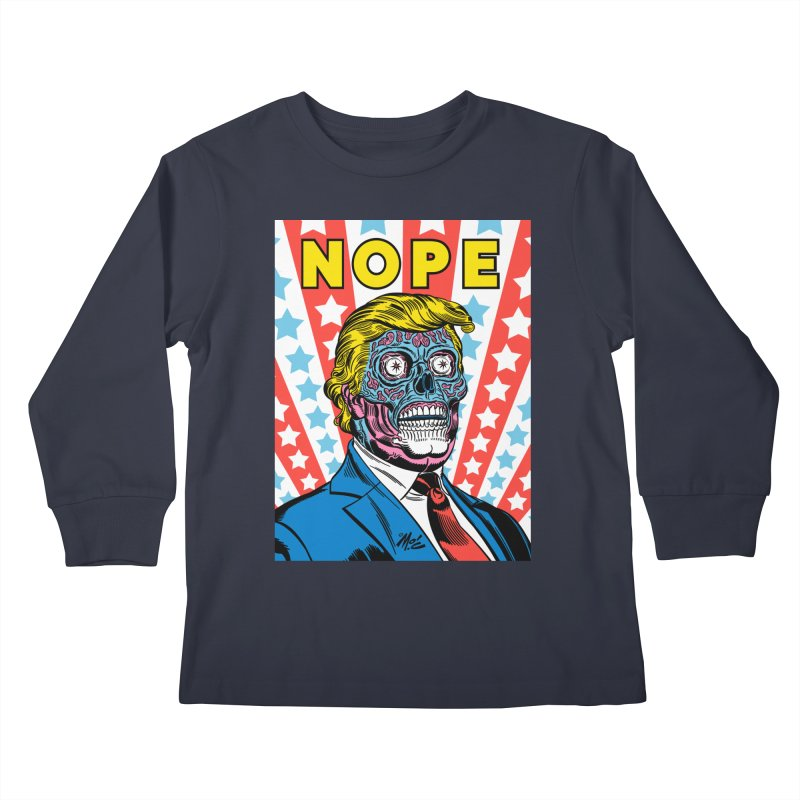 NOPE Kids Longsleeve T-Shirt by Mitch O'Connell