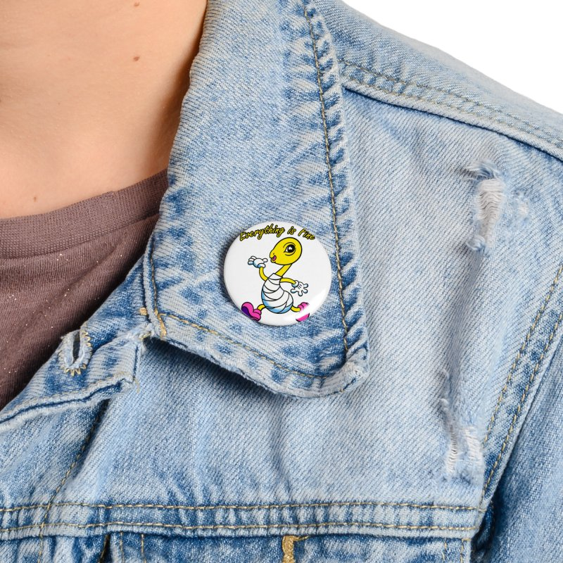Everything is Fine Accessories Button by Mitch O'Connell