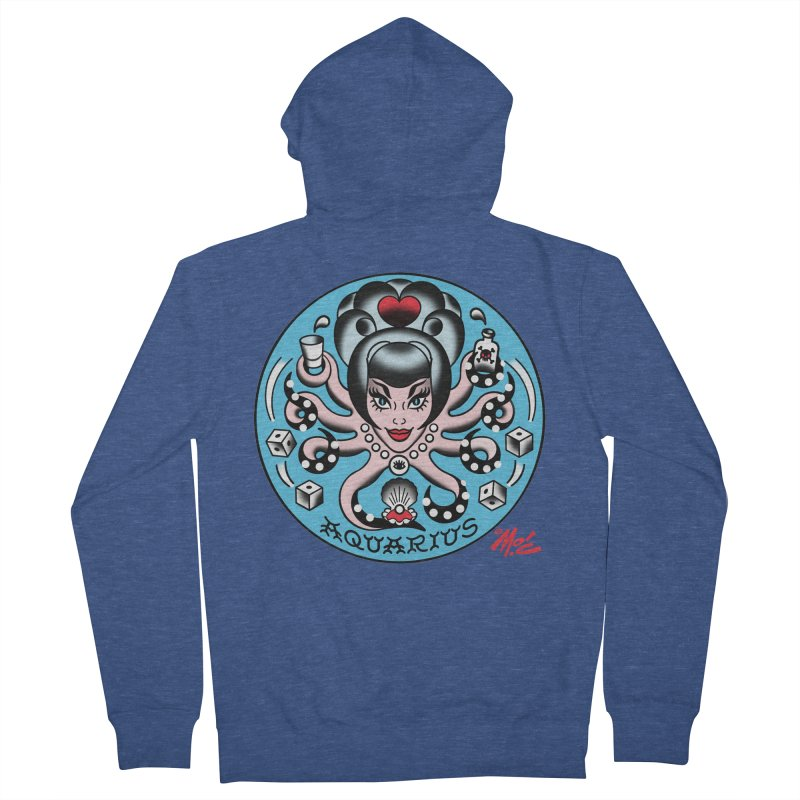 AQUARIUS! Women's Zip-Up Hoody by Mitch O'Connell