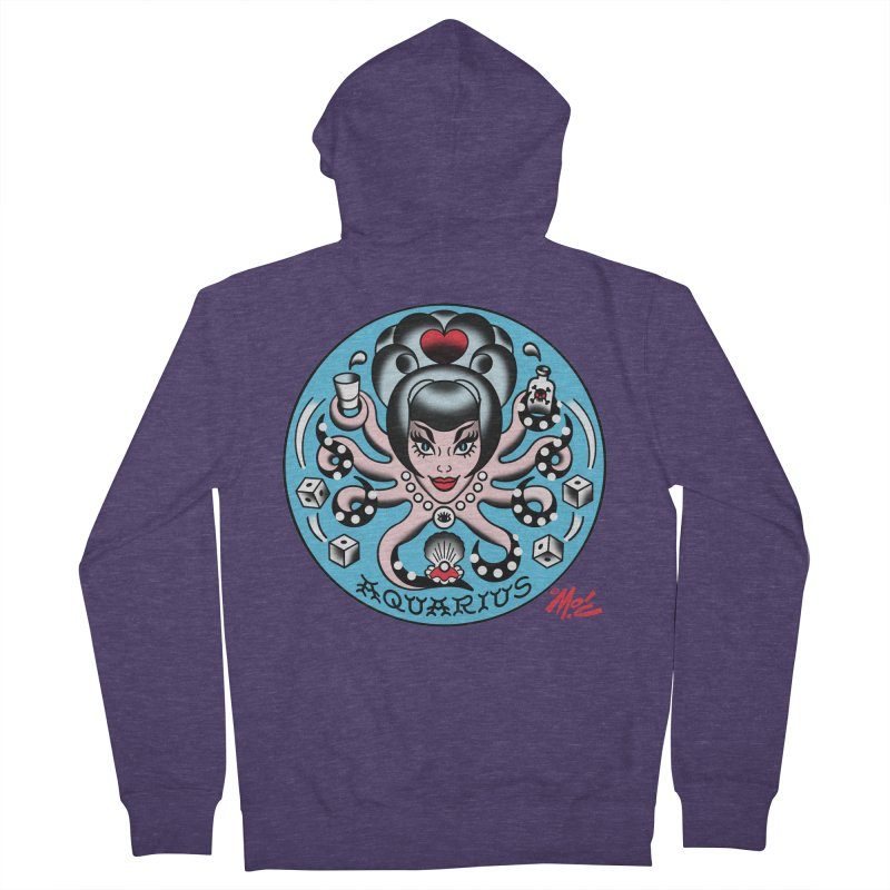 AQUARIUS! Men's Zip-Up Hoody by Mitch O'Connell