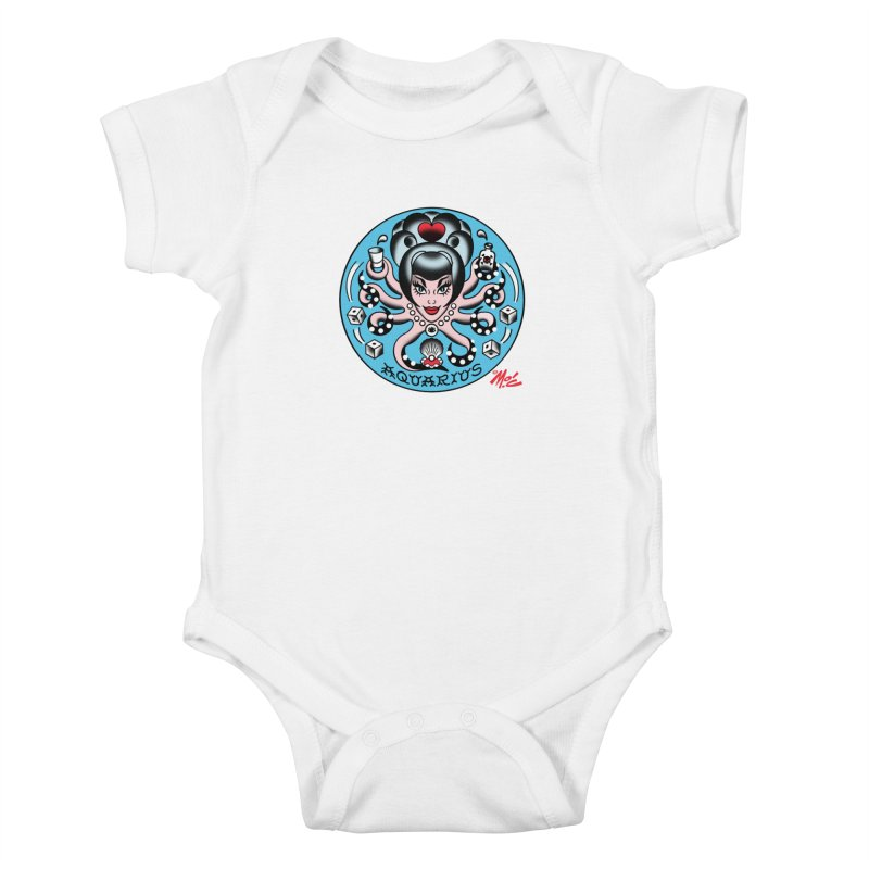 AQUARIUS! Kids Baby Bodysuit by Mitch O'Connell