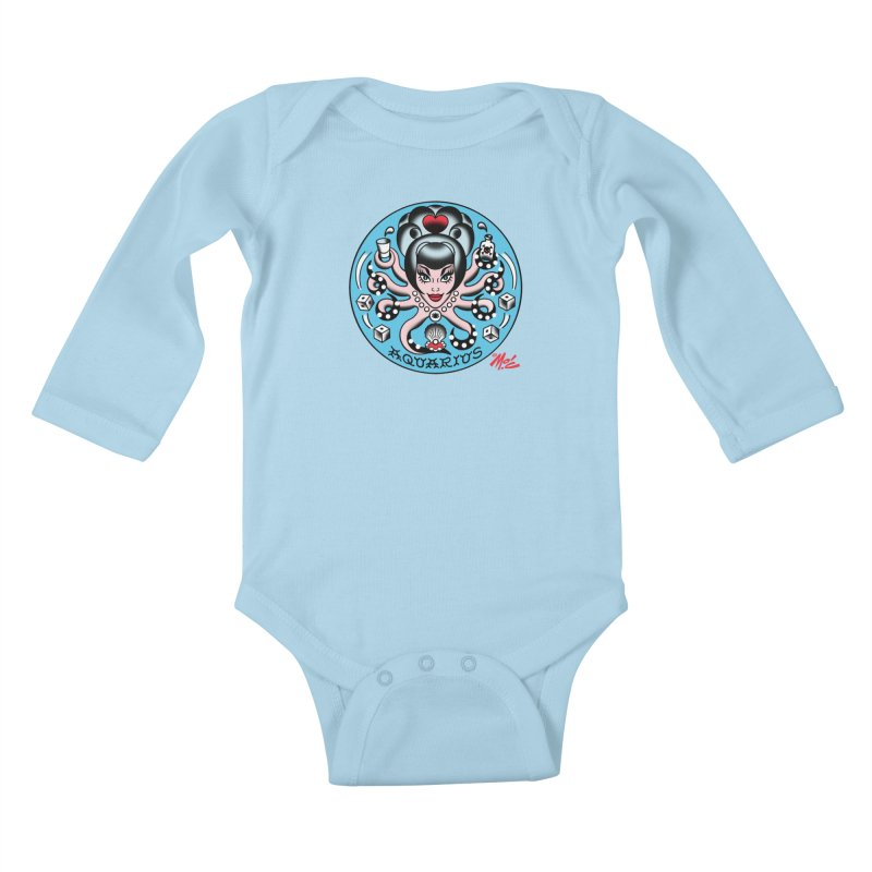 AQUARIUS! Kids Baby Longsleeve Bodysuit by Mitch O'Connell
