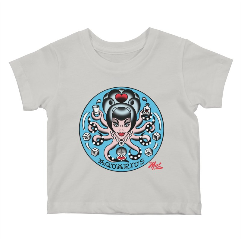 AQUARIUS! Kids Baby T-Shirt by Mitch O'Connell