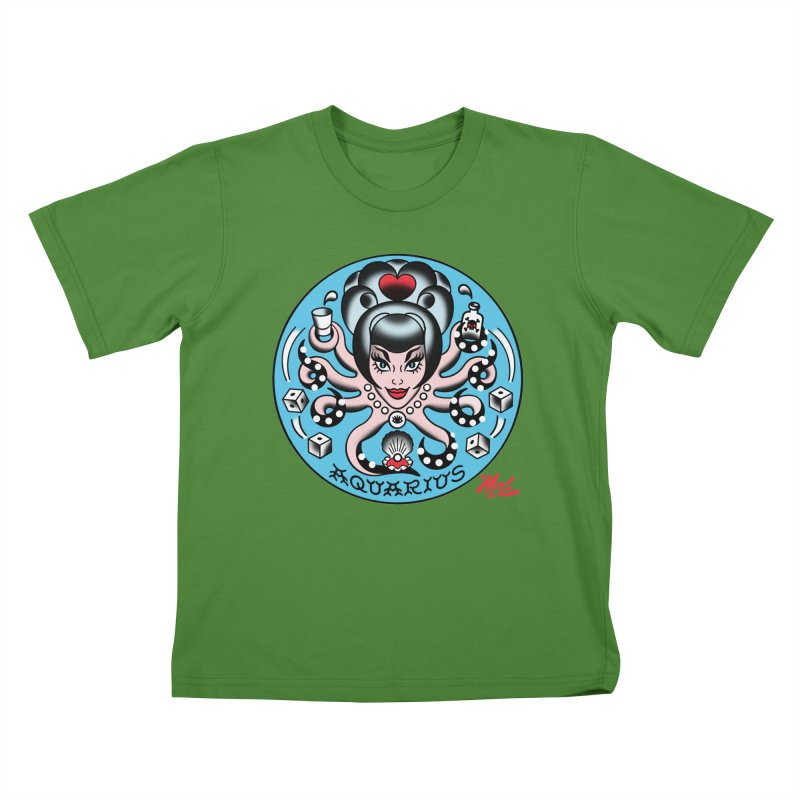 AQUARIUS! Kids T-shirt by Mitch O'Connell
