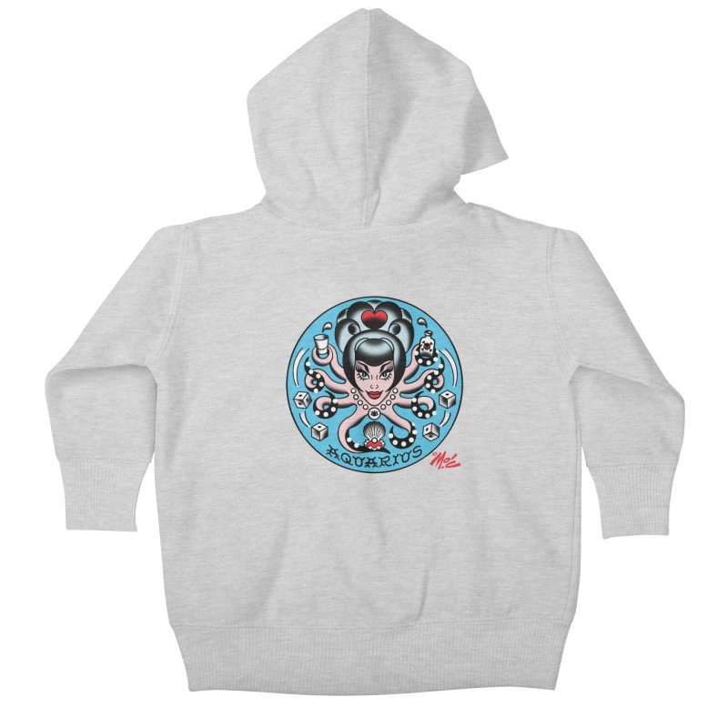 AQUARIUS! Kids Baby Zip-Up Hoody by Mitch O'Connell