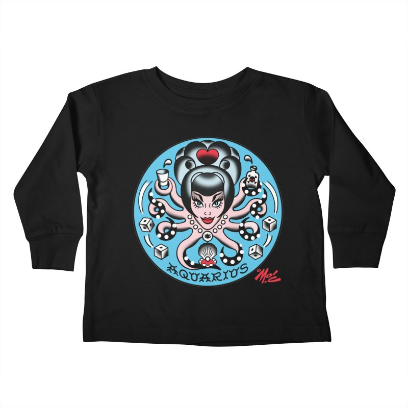 AQUARIUS! Kids Toddler Longsleeve T-Shirt by Mitch O'Connell