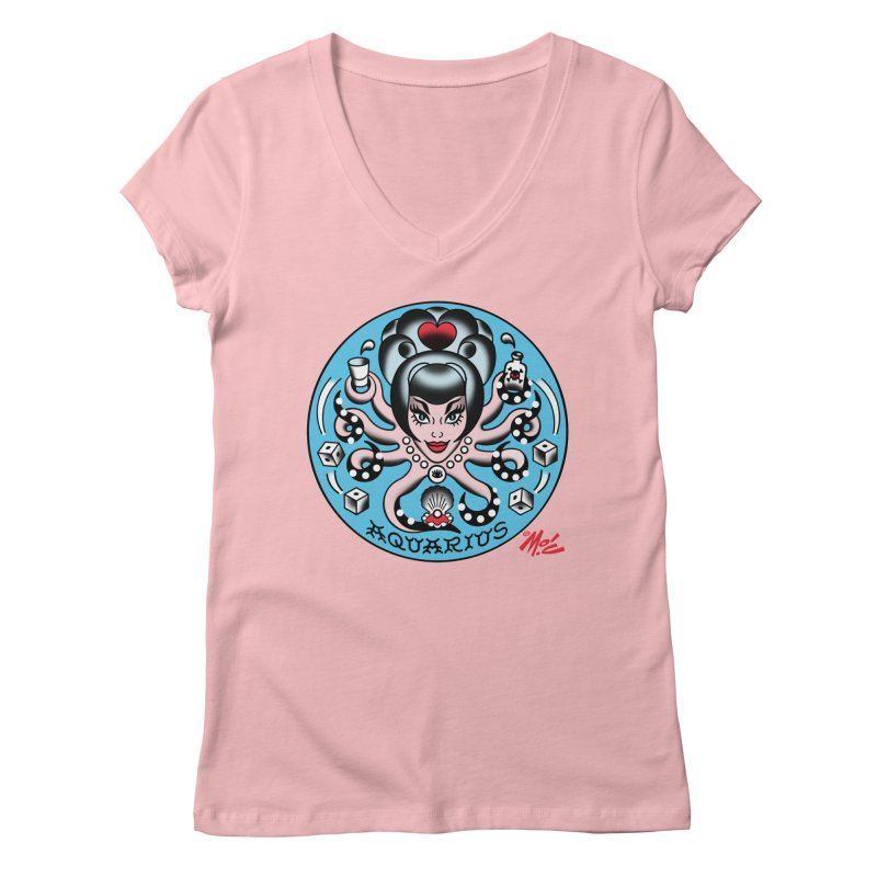 AQUARIUS! Women's V-Neck by Mitch O'Connell