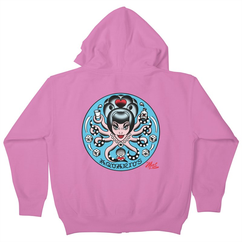 AQUARIUS! Kids Zip-Up Hoody by Mitch O'Connell